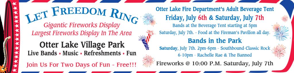 Otter Lake Fireworks 2018